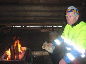 Tänä vuonna myös Anttilanvuoren kota oli huoltopisteenä. Matti Kuusela toimi kotaisäntänä.