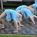 Lempäälän Pandojen esitys piti sisällään notkeutta ja taitavaa voimistelua.