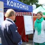 Myös kokoomuksen Sofia Vikman edusti Kuokkalankoskella.