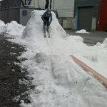 Jäähallin lumella