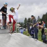 Best trick -kilpailun alle 13-vuotiaiden sarjan voitti Lauri Viljanen.