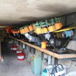 Katapulttitoimisia heittimiä on kymmenittäin bunkkereissa. Kuva: Erkki Koivisto