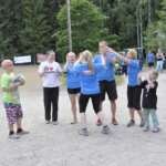 Team Lehtoranta juhli voittoaan.