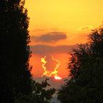 Syksyinen auringonnousu