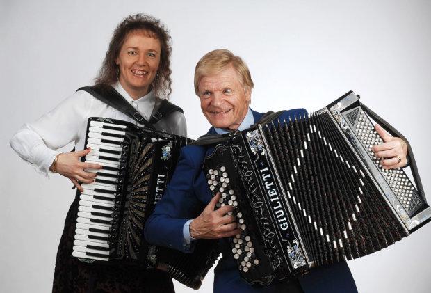 Veikko Ahvenainen ja Carina Nordlund.