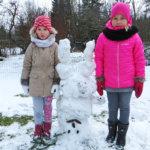 Kuntoilu käy lumiukolta kaulattakin