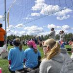C-tyttöjen tsemppisarjan finaaliottelussa pelasivat LeKi C-01 ja Euran Raiku. Kolmieräinen trilleri päättyi niukasti Euralle. Kuva: Katariina Onnela