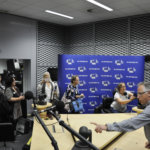 Euroopan komissiolla on lehdistön käyttöön tv- ja radiostudio. Kuva: Katariina Onnela
