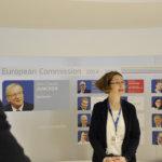 Christina Oldman toimi oppaana Euroopan komissiossa. Kuva: Katariina Onnela