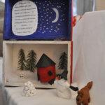 16. päivän luukusta avautui talvimaisena runon kera. Tekijänä olivat Kirkonkylän koululta Elinan luokkalaiset Kuva: Katariina Onnela
