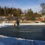 Hienot auraukset Lahdenkylällä