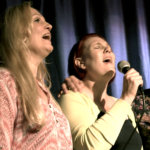 Naislaulajat vasemmalta: Anita Karjalainen (Tampere), Anne-Maija Hakala (Vesilahti) ja Tuulia Eskola (vesilahti).