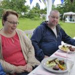 Marjo ja Mikko Rajalalle maistuivat pop up -ravintolan antimet. Kuva: Katariina Onnela