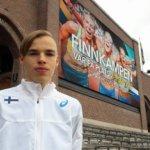 Aleksi Kivelä junnumaaottelussa