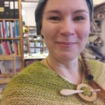Mirva Juntunen Taitokeskukselta osallistui Birgitan markkinoille. Kuva: Piia Kylliäinen