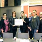 PuSu-keräys tuotti 1 500 euron lahjoituksen Sääksjärven koululle