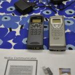 Tuoreempaa historiaa edustivat Nokian Communicator-matkapuhelimet. Kuva: Katariina Onnela