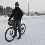 Talvipyöräilijä ei pelkää pakkasta