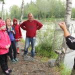 Urjalalaiset kalakoulussa Kuokkalankoskella
