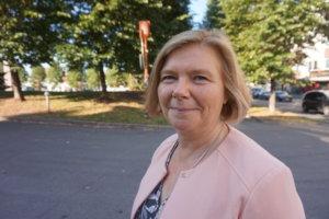 Uuden Tampereen yliopiston rehtori Mari Walls otti Pirkan päivänä vastaan Pirkanmaan palkinnon. (Kuva: Matti Pulkkinen)
