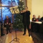 Piispantalossa raikuivat joululaulut kolmannen adventin kunniaksi
