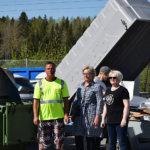 Martat kahvittivat Lempäälän jäteasemalla