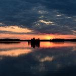 Auringinlasku Näppilänsillalla. Kuva: Minttu Harkki