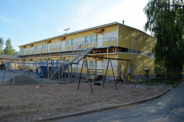 Sääksjärven uusi lisärakennus. Kuva: Antti Raunio