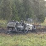 Auto suistui tieltä katolleen ja syttyi palamaan – syynä todennäköisesti huomattava ylinopeus