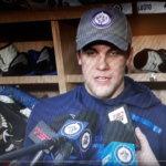 """Joona Luoto kertoi jännittäneensä avauspeliään NHL:ssä: """"Palkinto tuli kun kovaa painaa hommia"""""""