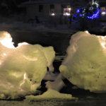Iloa saa auran jättämistä lumimöykyistäkin