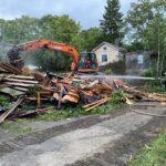 Asumaton talo paloi purkukuntoon Lempäälän keskustassa