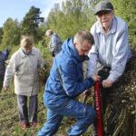 Metsänistutuksen konkarit istuttivat Vesilahdessa taimia ilmaston puolesta – Tempaus on osa Eläkeliiton juhlavuoden toimintaa