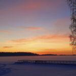 Lukijan kuva: Päivän viimeiset auringonsäteet