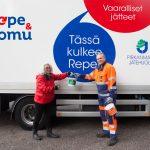Jätteitä keräävät Repe ja Romu kiertävät Lempäälässä – Lue kuinka paljon metalleja ja vaarallisia jätteitä kuormureiden matkaan kertyi viime vuonna